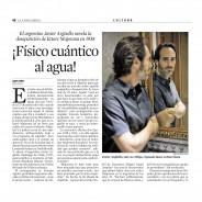 Físico cuántico al agua – La Vanguardia / Cultura